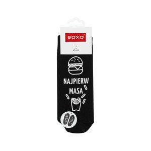 "SOXO Men's socks with text ""najpierw masa, potem rzeźba"""