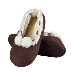 SOXO PREMIUM women's ballerinas with fur and ABS - autumn colors