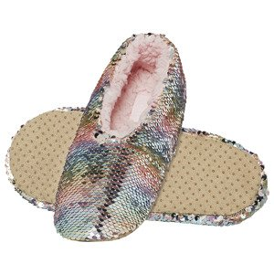 SOXO Women's ballerina slippers 'Sequin' pastel