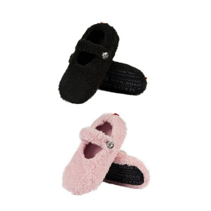 SOXO Women's ballerina slippers with diamond butto