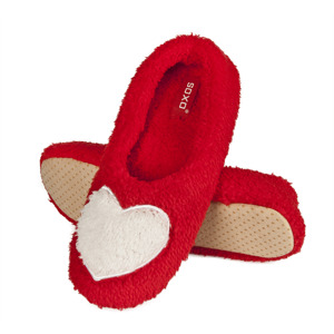 SOXO Women's ballerina slippers with hear