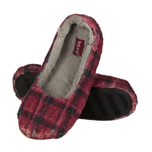 SOXO Women's checkered ballerina slippers with TPR
