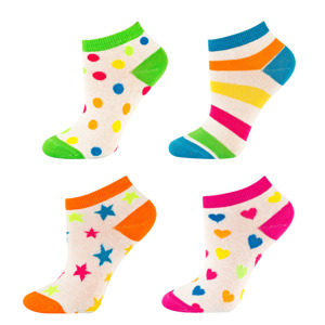 SOXO Women's footies - colorful patterns