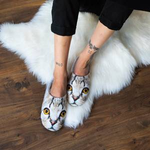 SOXO Women's photo slippers with kitty with TPR