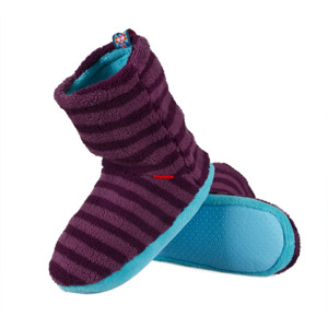 SOXO Women's slippers fleece with ABS - colorful stripes