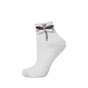 SOXO Women's socks with applique 'Dragonfly'