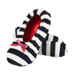 SOXO Women's striped ballerina slippers