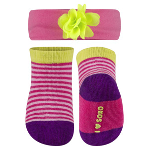 SOXO infant set socks with headband