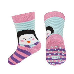 SOXO infant socks with animal + ABS