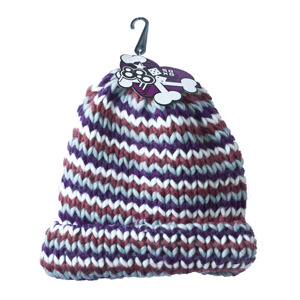 SOXO knitted hat - colorful stripes