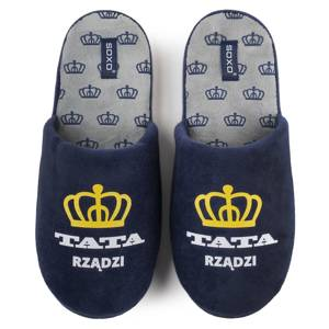 SOXO men's slippers with the inscription in a giftbox