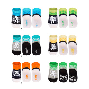 SOXO sneaker socks MAMA TATA (polish text)