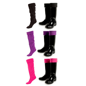 SOXO women's fleece socks - for wellies