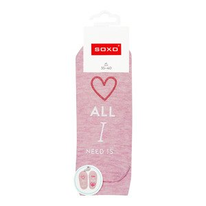 "Women footies SOXO life instructions ""ALL I need is..."""
