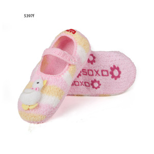 Women's slippers SOXO plush with ABS - pets