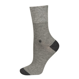 Women's socks with  silver thread and collar