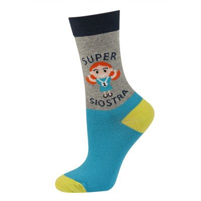 "SOXO Damen Socken ""Super siostra"" (Polischer Text)"