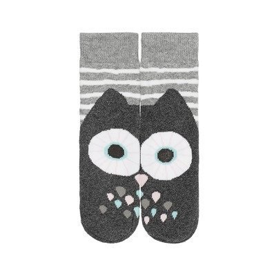 SOXO Kindersocken - Graue Eule