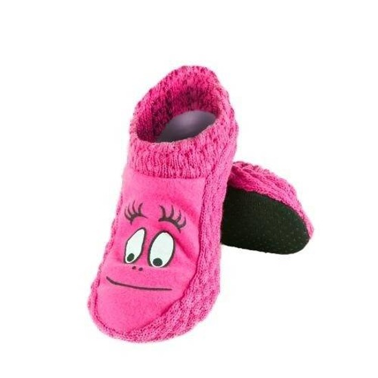 Pantoffeln Frauen SOXO gestrickte Sohle ABS rosa