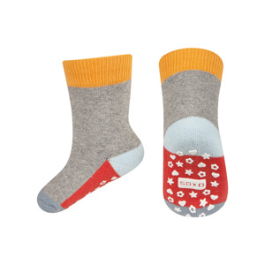 SOXO Baby Frotte-Socken mit bunter Sohle mit ABS
