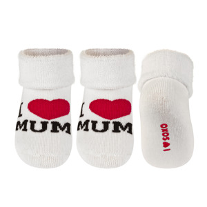 SOXO Baby Socken I LOVE MUM I LOVE DAD
